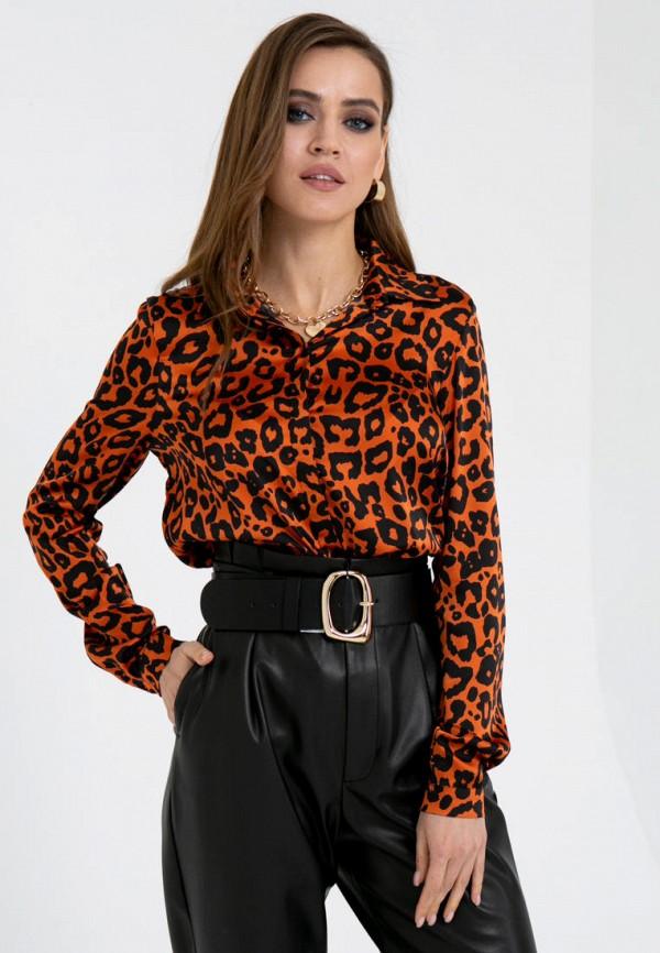 женская блузка с длинным рукавом gold chic chili, оранжевая