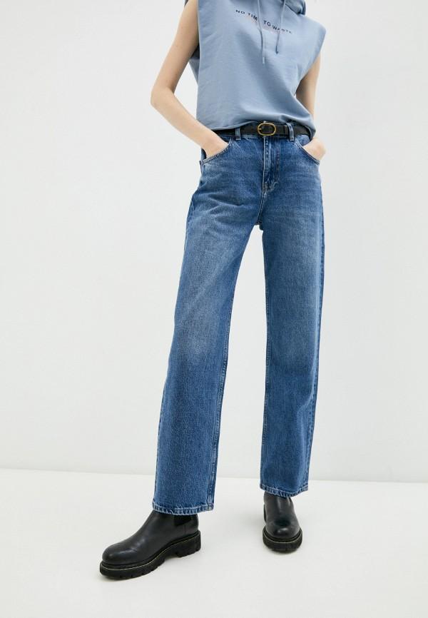 женские джинсы бойфренд bochetti, синие