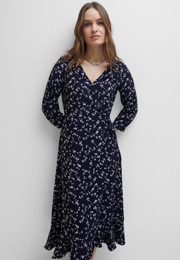 женское платье с запахом zarina, синее