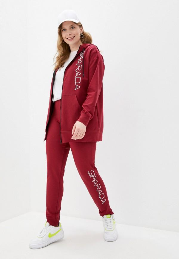 женский спортивный костюм sparada, бордовый