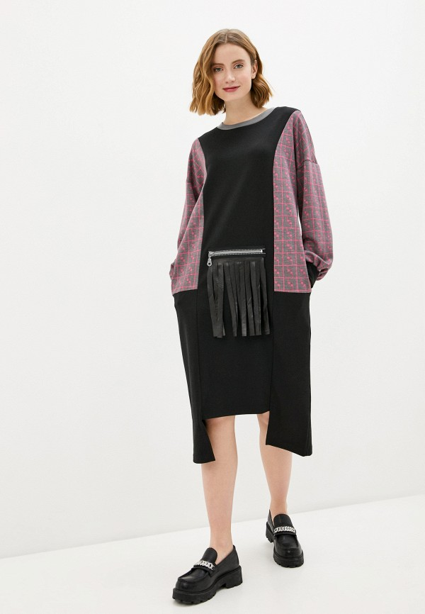 женское платье-свитеры adzhedo, черное