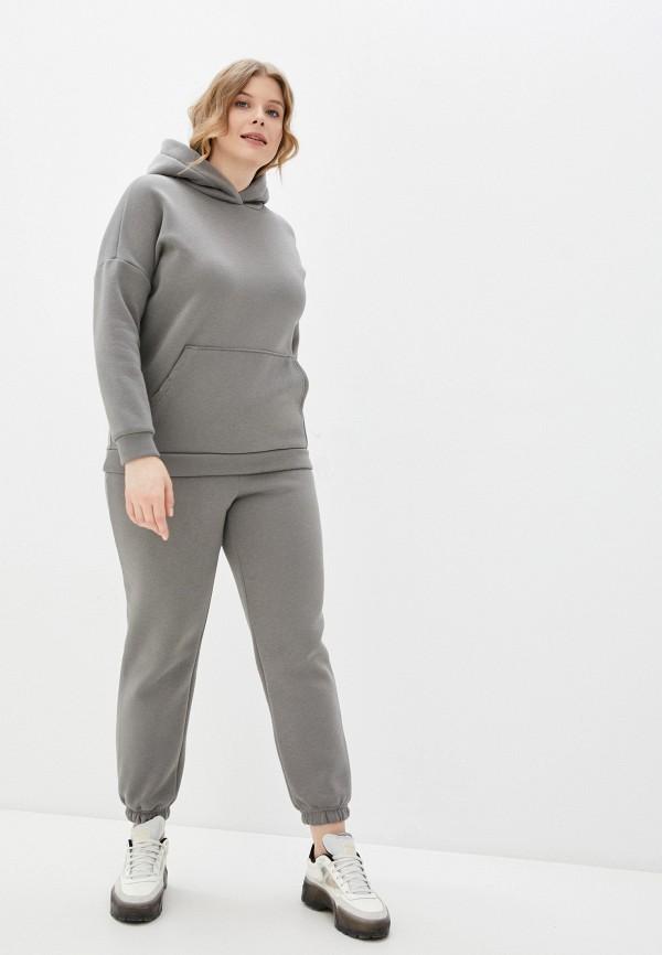 женский спортивный костюм milanika, серый