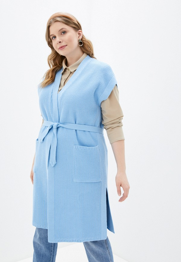 женский жилет milanika, голубой