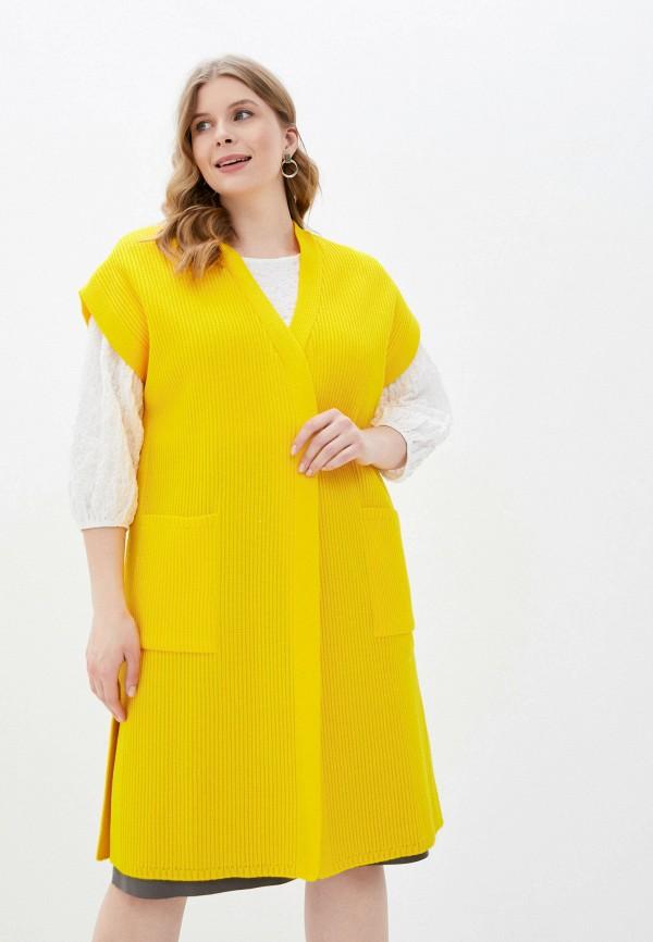 женский жилет milanika, желтый