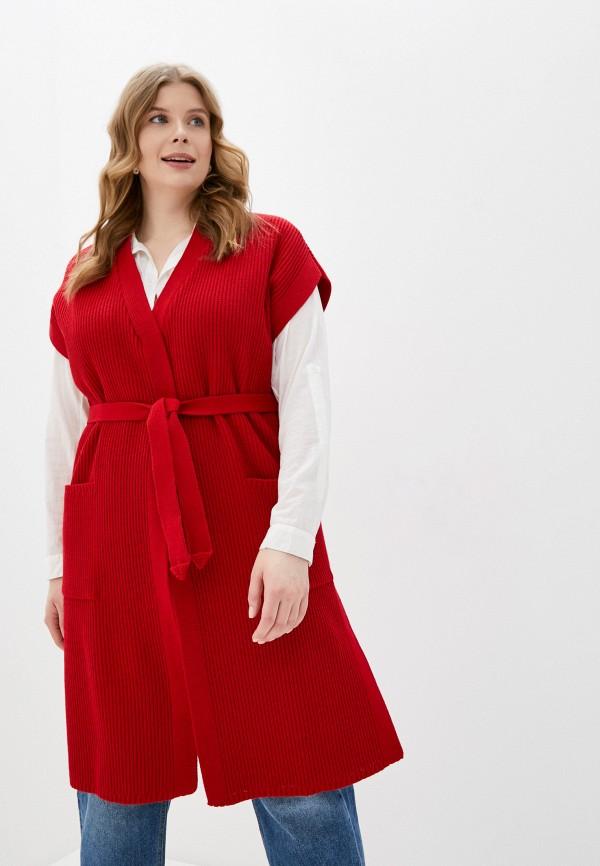 женский жилет milanika, красный