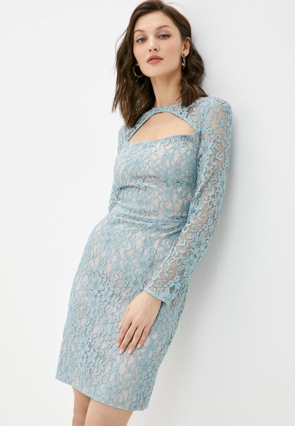 женское вечерние платье ruxara, голубое