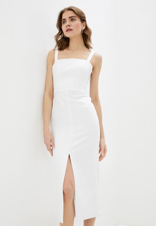 женское платье-футляр ruxara, белое