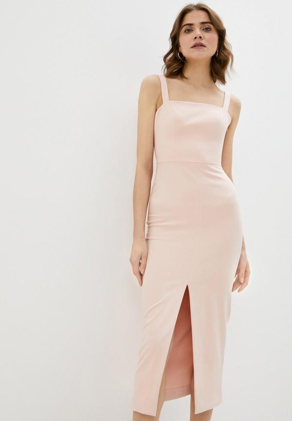 женское платье-футляр ruxara, розовое
