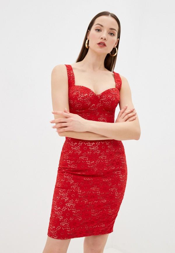 женское вечерние платье ruxara, красное