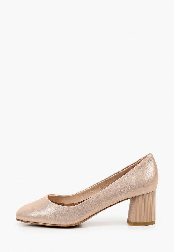женские туфли с закрытым носом dino ricci, золотые
