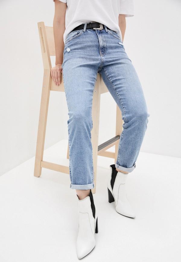 женские джинсы-мом mavi, голубые