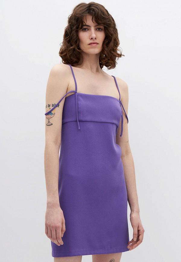 женское повседневные платье lime, фиолетовое