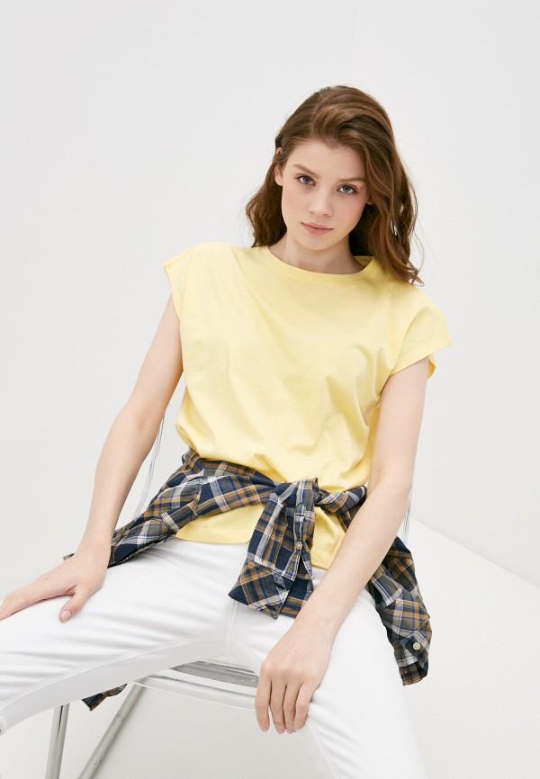 женская футболка baon, желтая