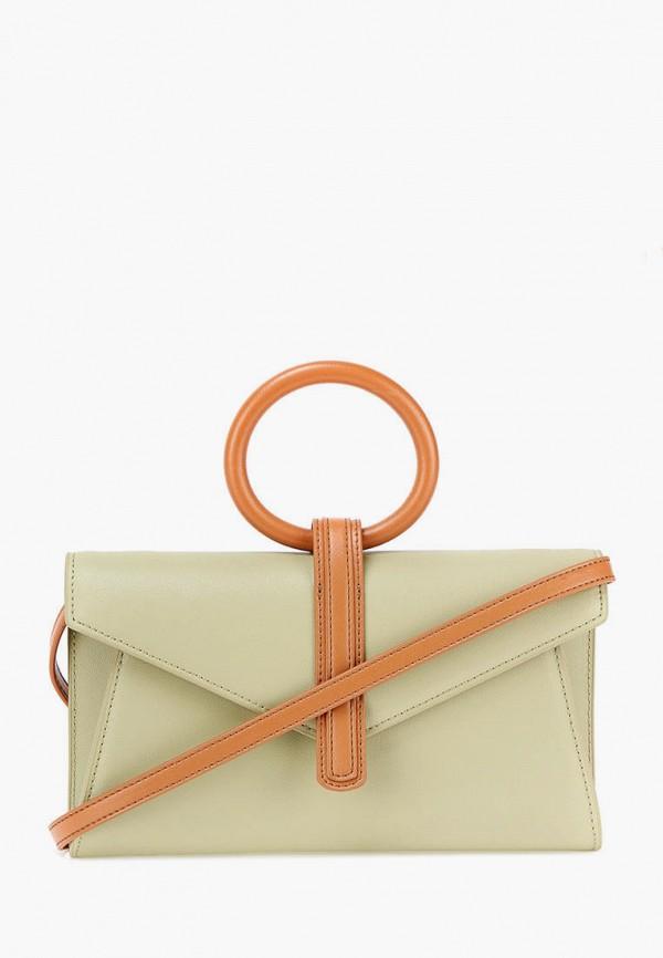 женская сумка с ручками jane's story, зеленая