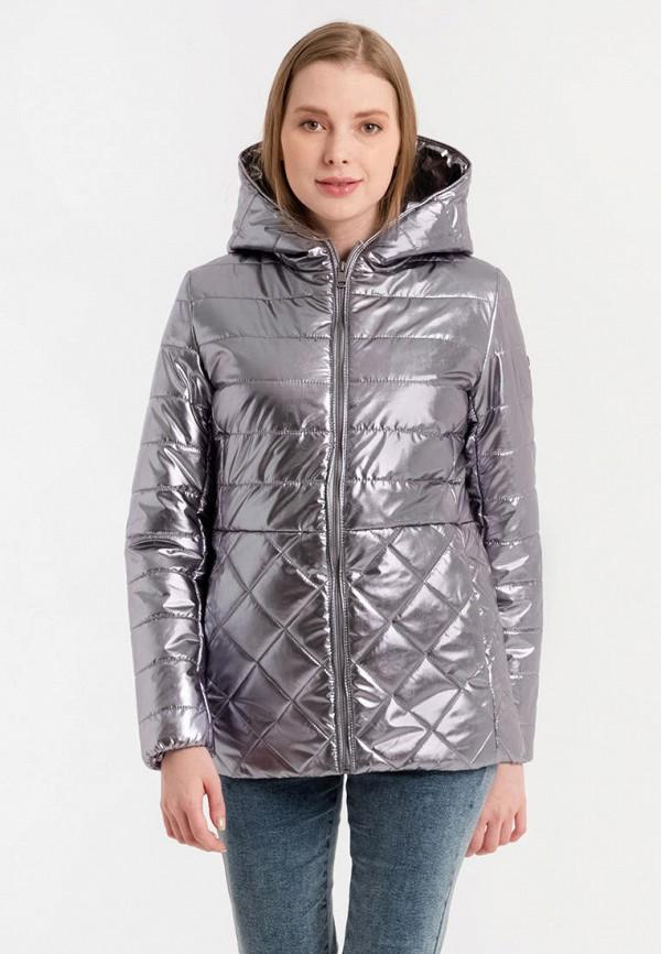 женская утепленные куртка lab fashion, серебряная