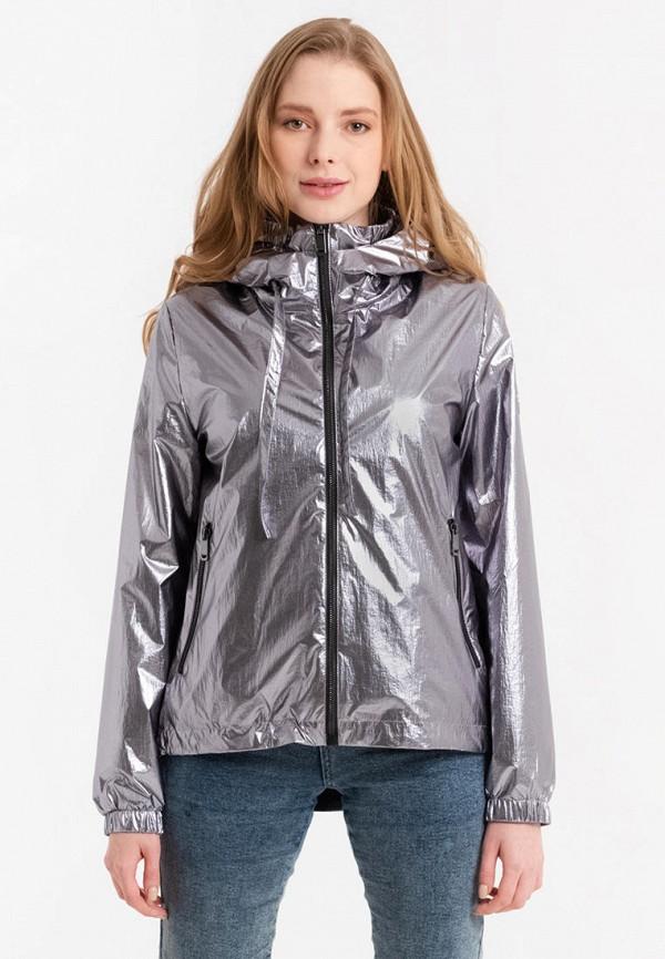 женская легкие куртка lab fashion, серебряная