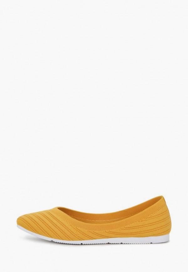 женские балетки t.taccardi, желтые