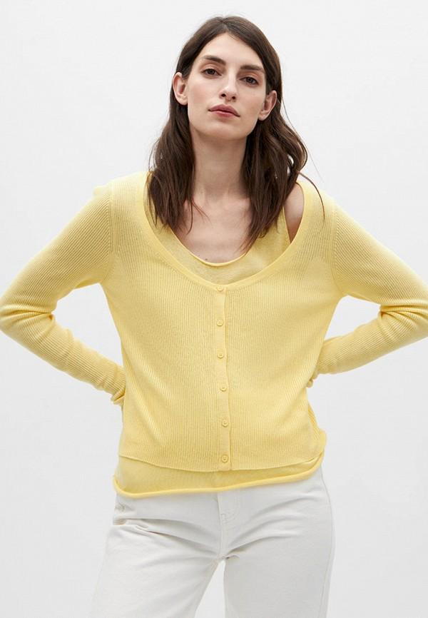 женский кардиган lime, желтый
