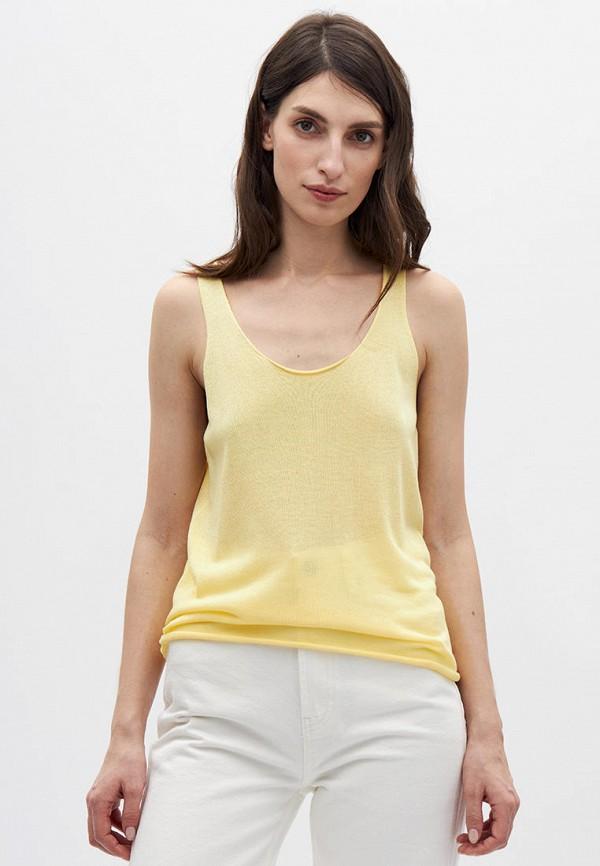 женский топ lime, желтый