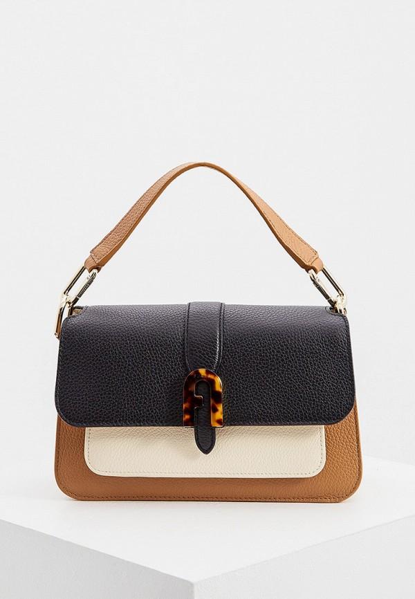 женская сумка с ручками furla, разноцветная