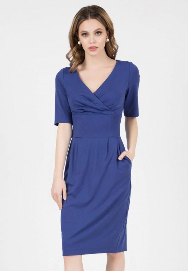 женское платье-футляр grey cat, синее