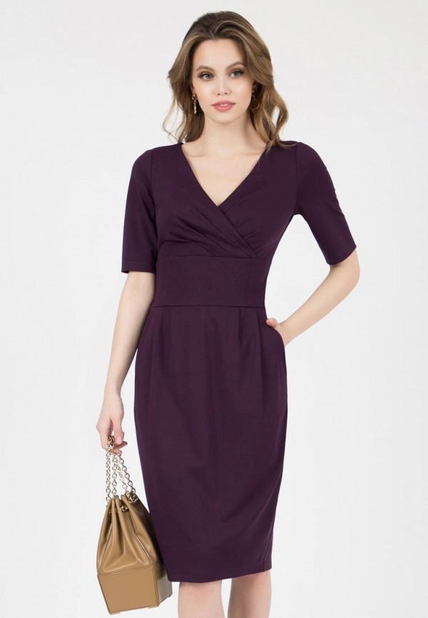 женское платье-футляр grey cat, фиолетовое