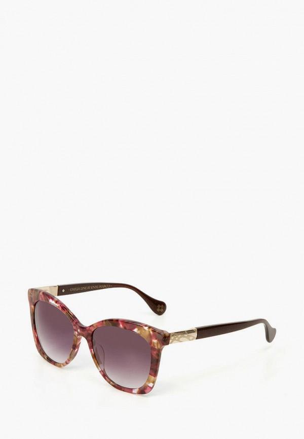 женские солнцезащитные очки enni marco, коричневые