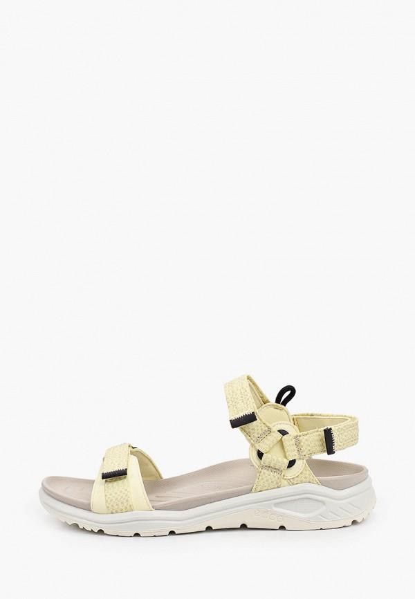 женские сандалии ecco, желтые