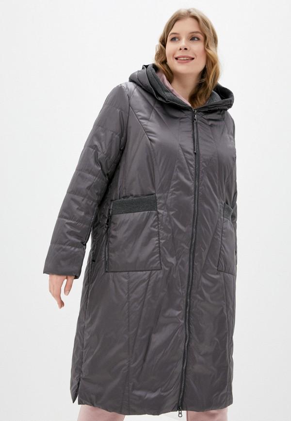 женская утепленные куртка morozoff, серая