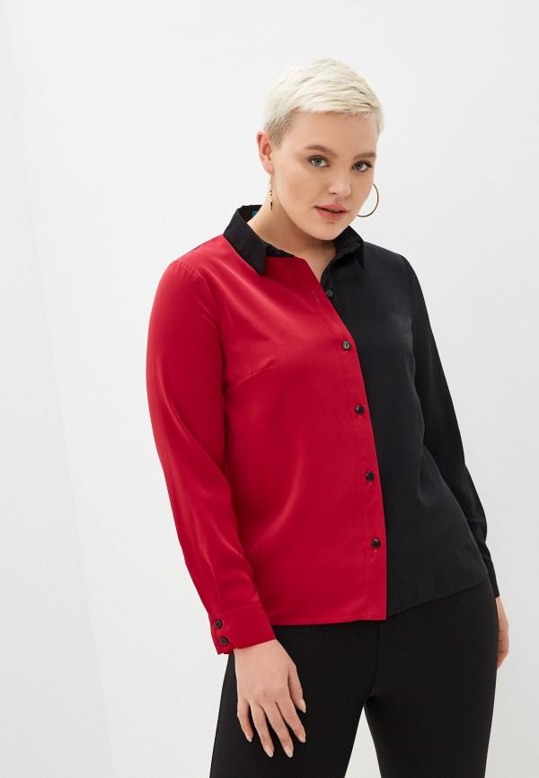 женская блузка с длинным рукавом avemod, красная