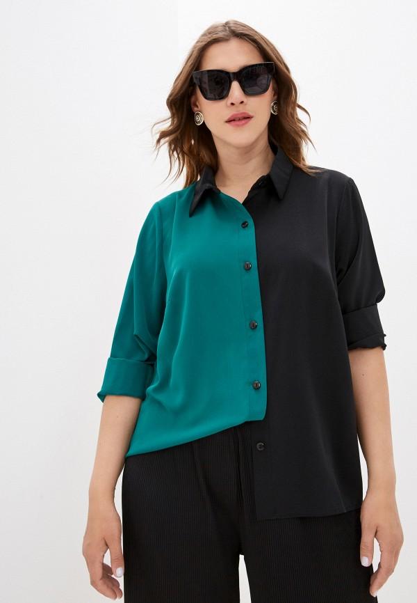 женская блузка avemod, бирюзовая