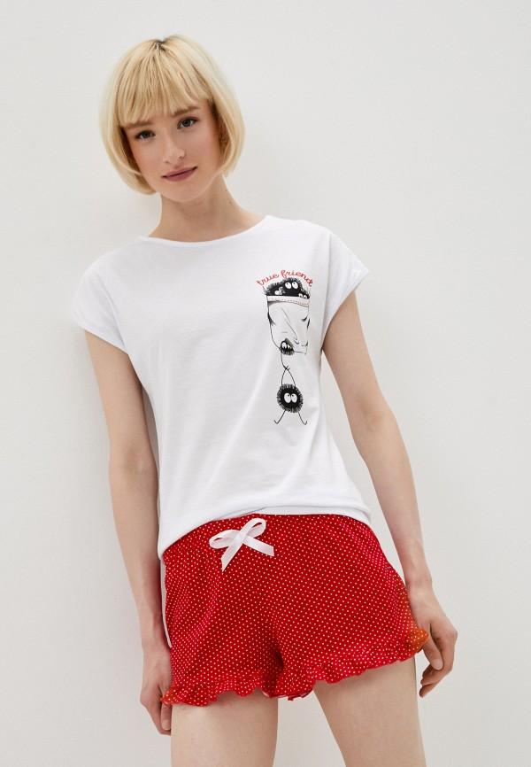 женская пижама селтекс, разноцветная