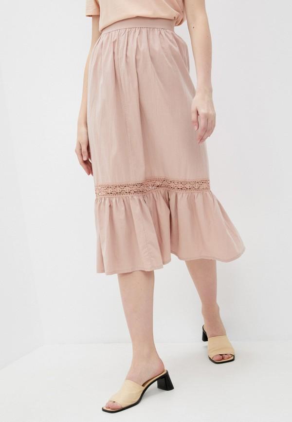 женская юбка-трапеции fabia monti, розовая