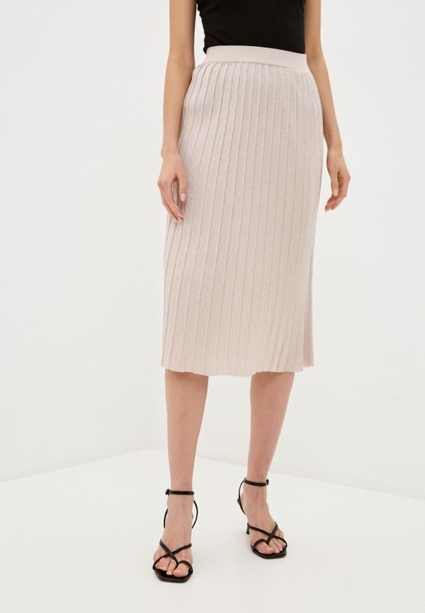 женская плиссированные юбка fors, розовая