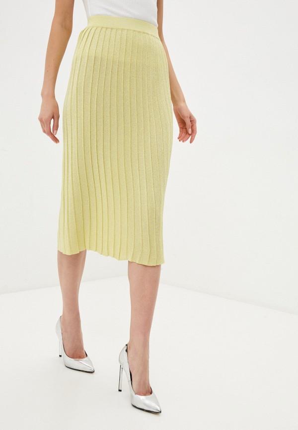 женская плиссированные юбка fors, зеленая