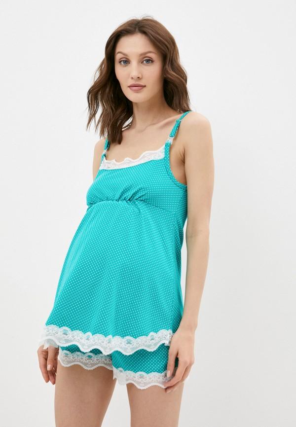 женская пижама fest, зеленая
