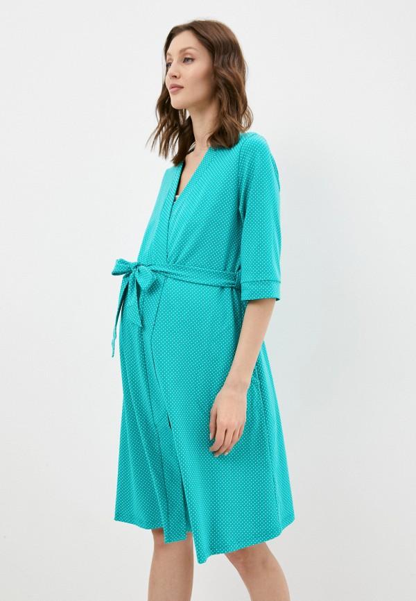 женский халат fest, зеленый