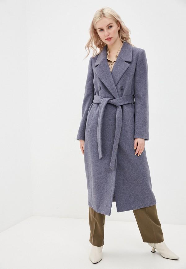 женское двубортные пальто avalon, синее