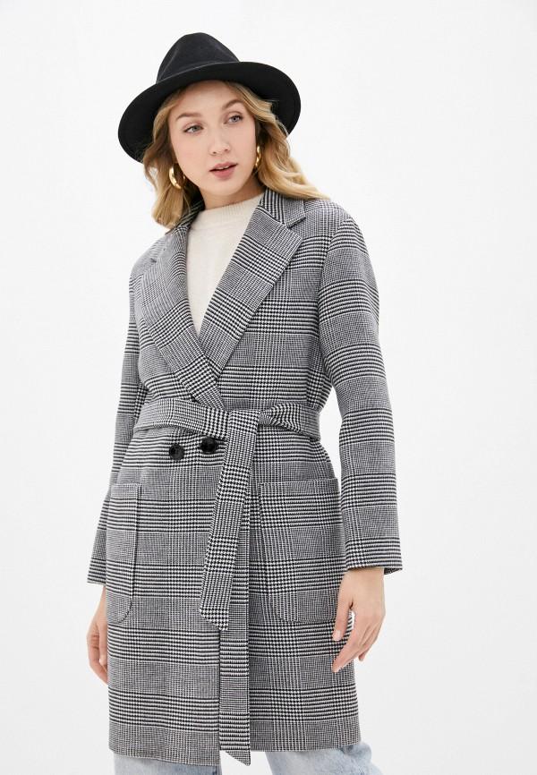 женское двубортные пальто almarosa, серое