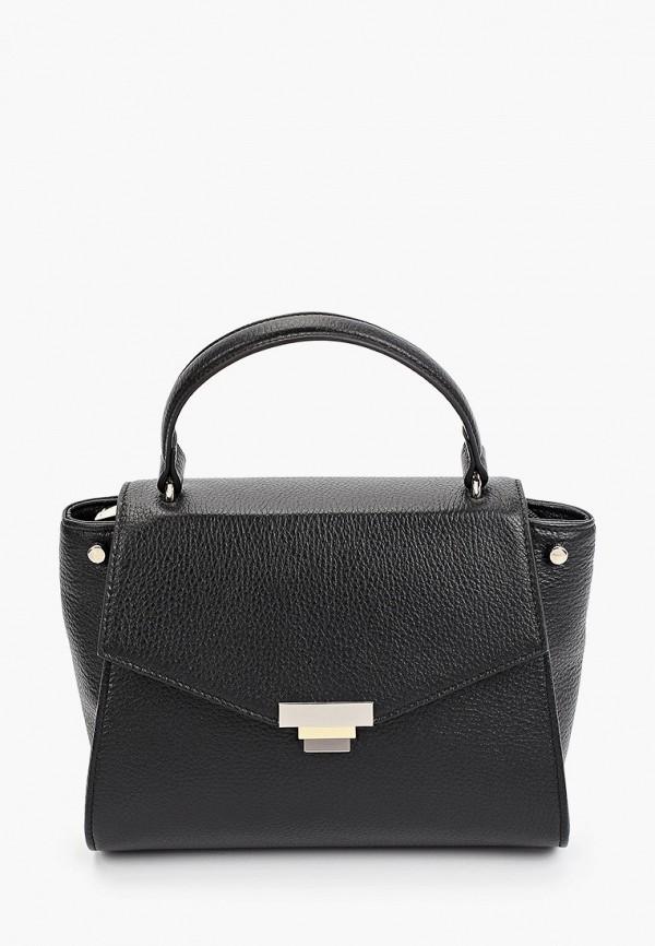 женская сумка с ручками afina, черная