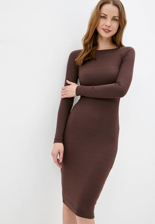 женское платье-свитеры ruxara, коричневое