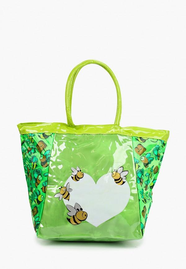 женская пляжные сумка zemsa, зеленая