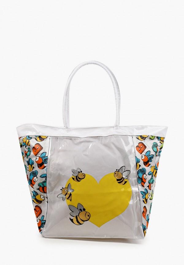 женская пляжные сумка zemsa, белая