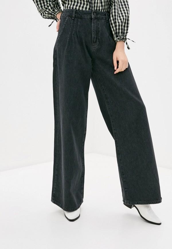 женские джинсы клеш whitney, серые