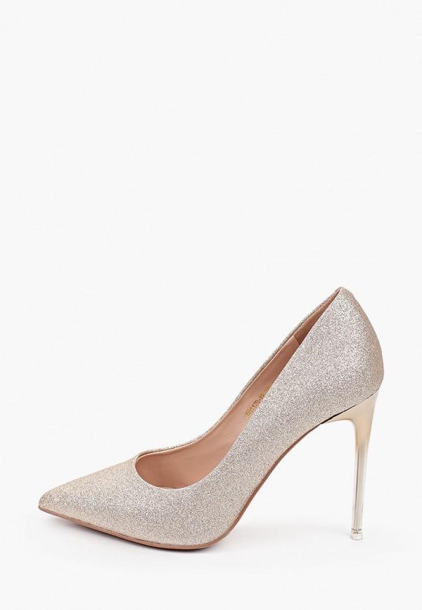женские туфли-лодочки basconi, золотые