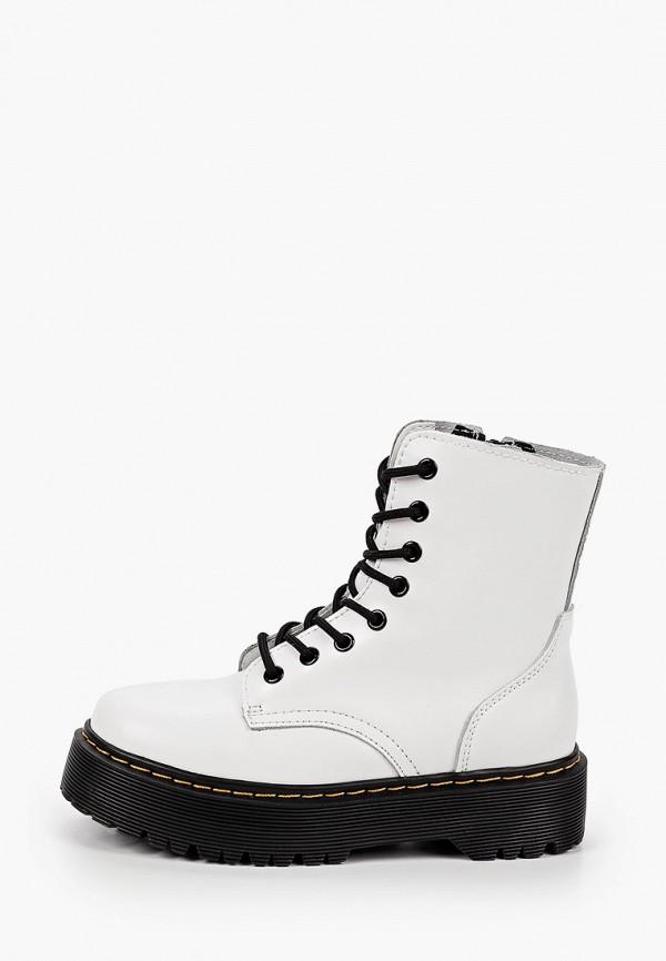 женские высокие ботинки helena berger, белые