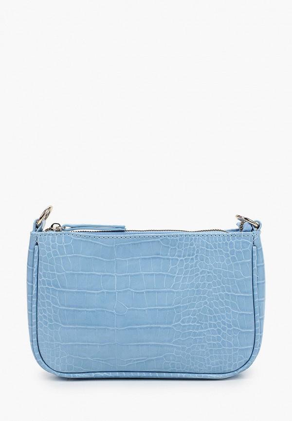 женская сумка с ручками zarina, голубая