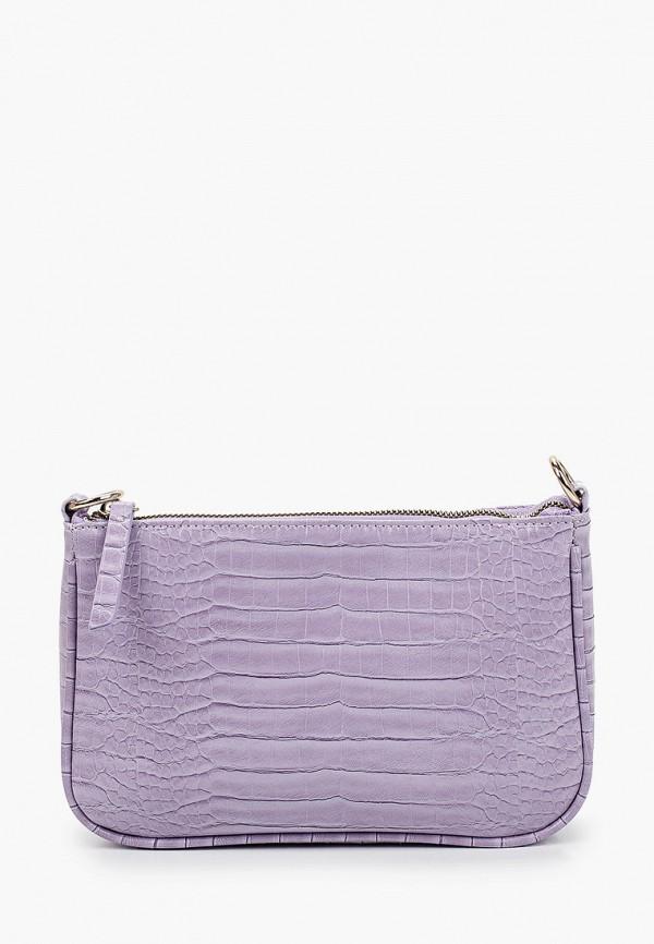 женская сумка с ручками zarina, фиолетовая