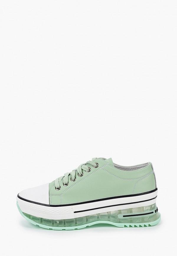 женские низкие кроссовки helena berger, зеленые