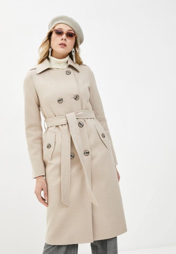 женское пальто elegant life, золотое